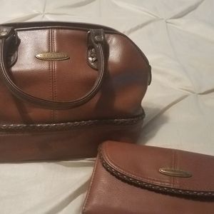 Liz Claiborne brown leather purse and wallet